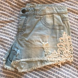 Mossimo Lace Denim Shorts